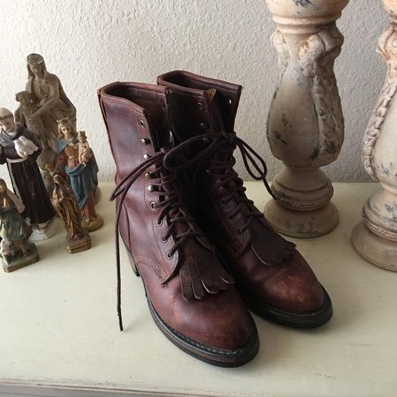 Womens Durango Vibram Lace Up Boots